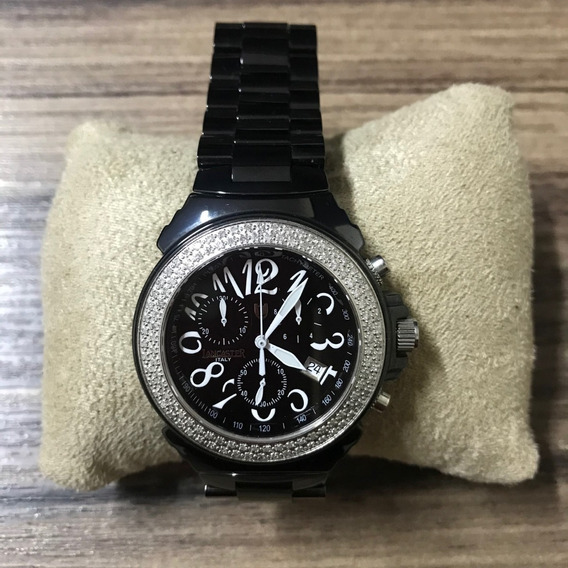 Relógio Lancaster Pillo Nero Quarzo 38mm Diamanti Ref 0292