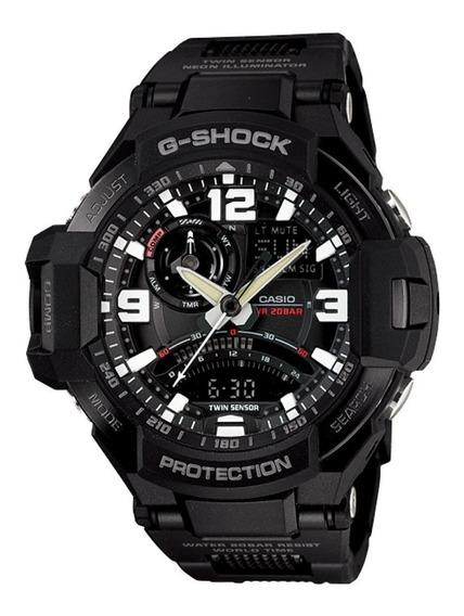 Relógio Casio G-shock - Ga-1000fc-1adr Aviator Pulseira Elo