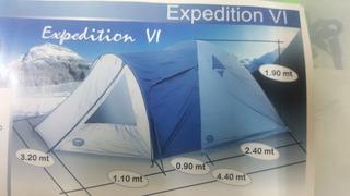 Carpa Camping Bamboo Expedition 6 Bill Pesca