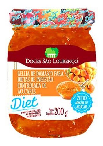 Imagem 1 de 1 de Geleia Diet Damasco São Lourenço 200g