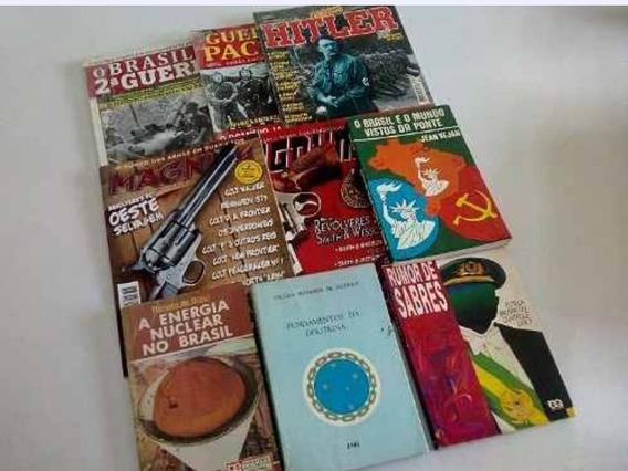 Magnum Revólver Oeste Sw Revistas Livros Militares Lote 9