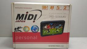 Gps Midi Md-5066av Tv Digital 5 Polegadas Com Acessórios