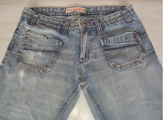 Linda Calça Feminina Em Jeans Com Tachas Marca Backstage