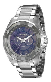 Relógio Mondaine Masculino Prata 94796g0mvna1