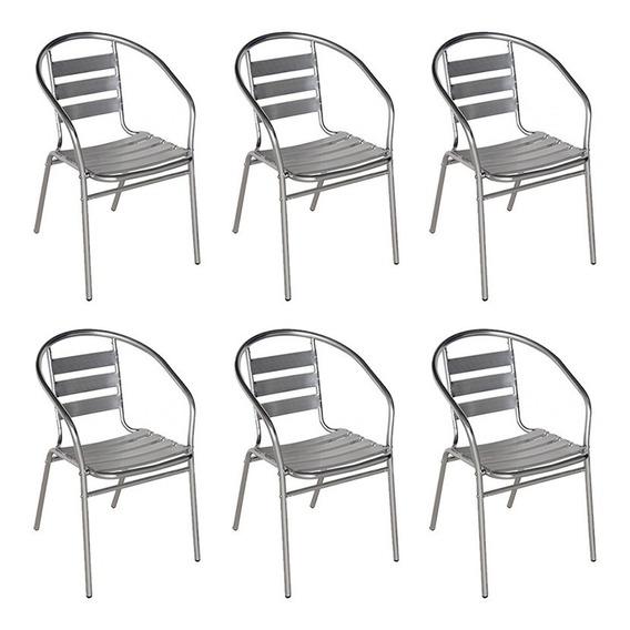6 Poltronas Mor Alumínio Cadeiras De Jardim Áreas Externas