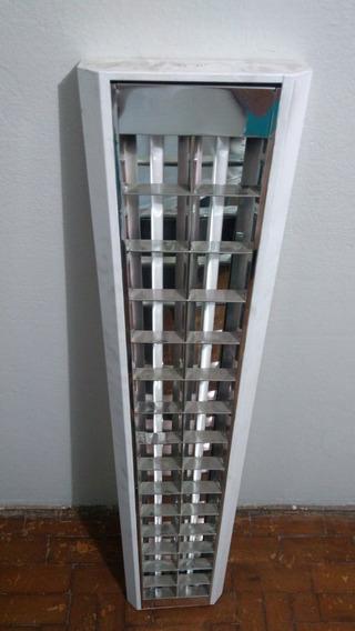 Luminarias Calha 24x125 Sobrepor Aletada Com Lampadas