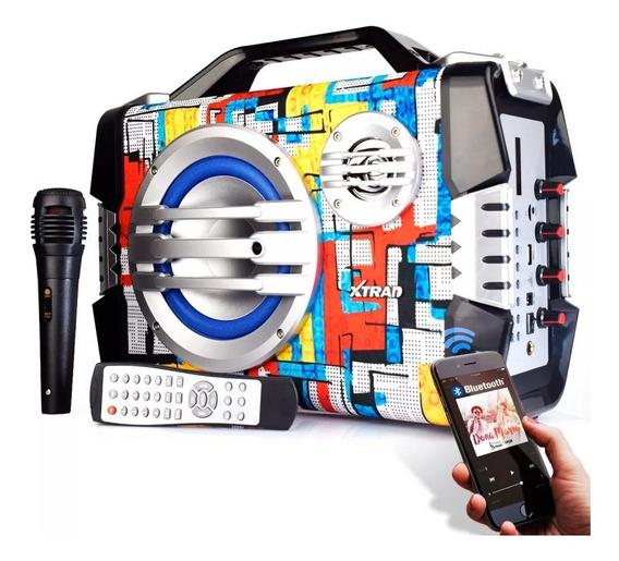 Caixa De Som Bluetooth Pen Drive 100w Microfone Aux Xdg-23
