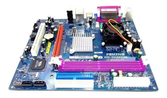Placa Mãe Positivo Com Processador Embutido Ddr2(via Pc3500)