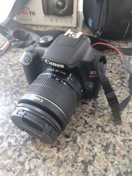 Camera Dslr Canon Eos Rebel T6 + Sd 32gb + Lente Efs 18-55mm