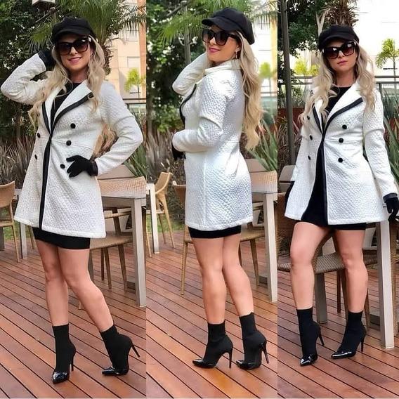 Kit 4 Blazer Matelasse Social Sobre Tudo Feminino Look Top