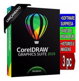 Corel Draw 2019 Ativa 03 Maquinas(superior Ao X7 X8 X9 2018)
