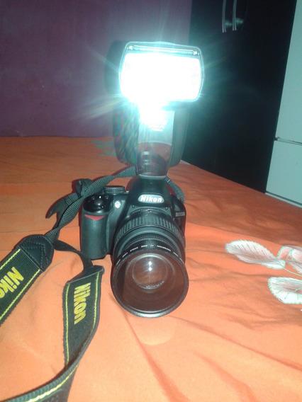Câmera Nikon D3100 Com Flexe Digital, Duas Lentes Potente