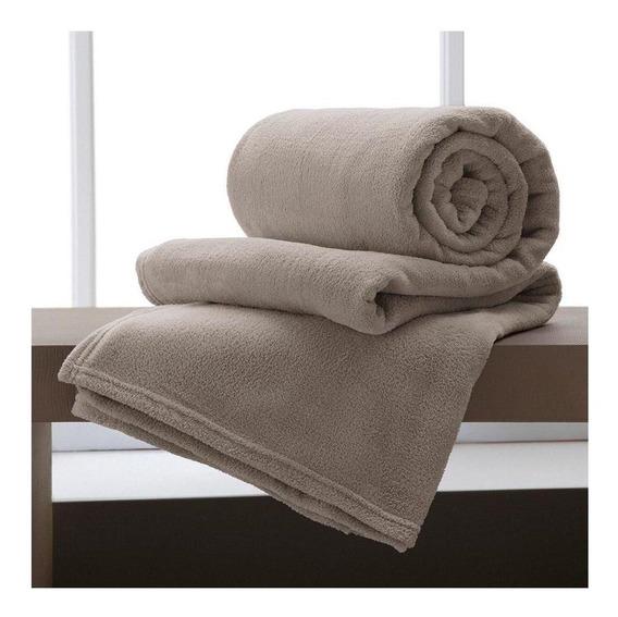 Cobertor Corttex Home Design Casal bege liso