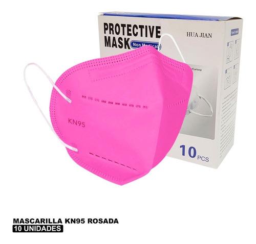Mascarilla Kn95 Rosadas - 10 Unid - Formato Individual