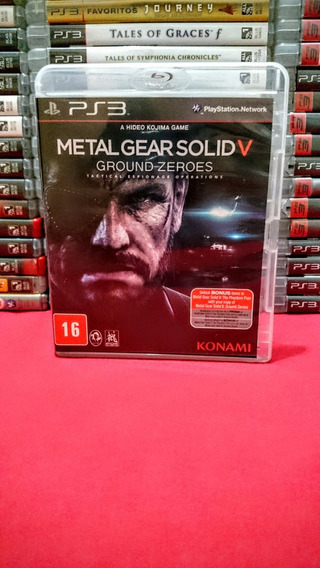 Metal Gear Solid V Ground Zeros 5 Ps3 Frete $10