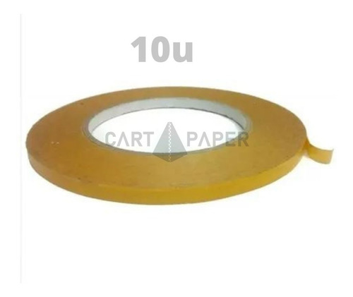 Imagen 1 de 2 de Cinta Transferible Doble Faz Contacto 50m X 9mm /cart Paper