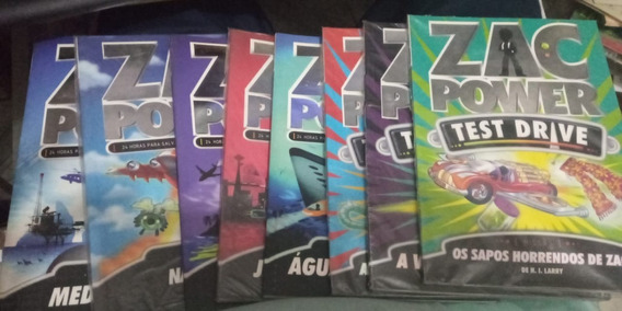 8 Livros - Zac Power - H. I. Larry