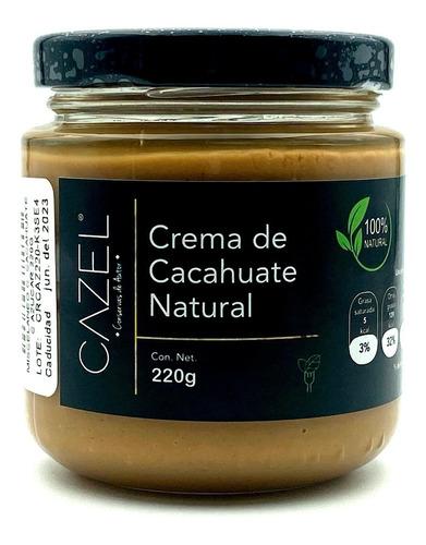 Imagen 1 de 6 de Crema De Cacahuate Oaxaqueño Con Azúcar 100% Natural 220g