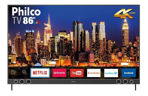 Imagem 1 de 3 de Smart Tv 86  4k Sb Led Netflix Philco Bivolt Ptv86p50snsg