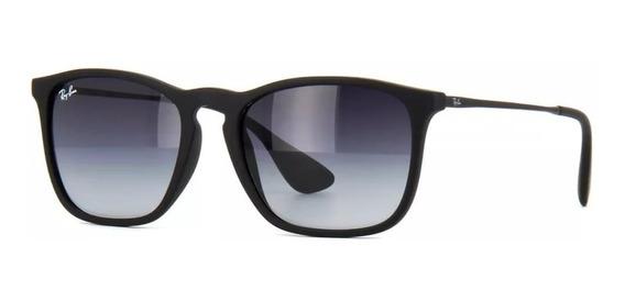 Óculos Ray-ban Rb4187 Chris 622/8g Preto Degradê