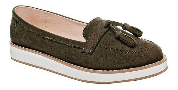 Zapato Been Class 10832 Mujer Talla 22-26 Color Olivo Pk-oi