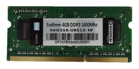 Memoria Ram Para Notebook 4gb Ddr3 1600 204 Pin Mhz En Ramos