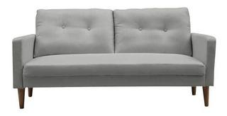 Sillon Sofa 2 Cuerpos Tapizado Tela 163 Cms