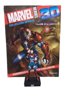 Figuras Marvel 3d Nº 19 Iron Patriot