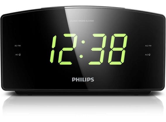 Radio Relogio Philips Fm Digital Aj3400 Despertador