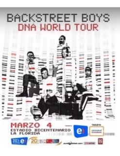 2 Entradas Back Street Boys Dna World Tour Chile Cancha Gral
