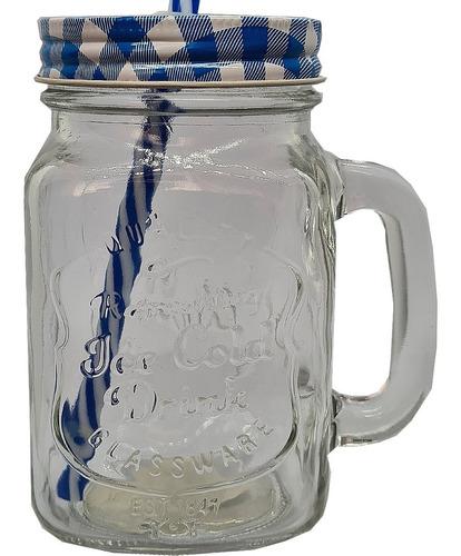 Imagem 1 de 7 de 1 Caneca Mason Jar 1 Canudos 1 Tampas Diferentes Sweet Amado