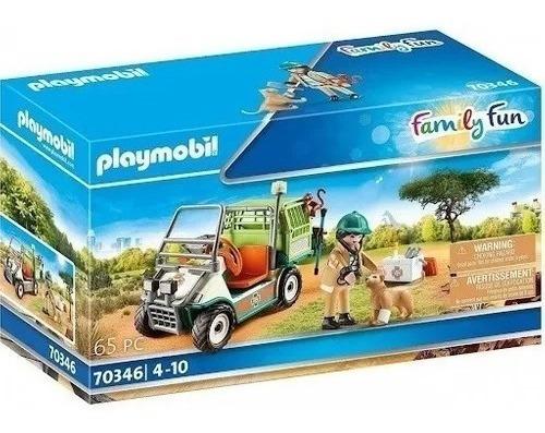 Imagen 1 de 6 de Playmobil Family Fun Veterinario Zoo Con Coche Medico 70346
