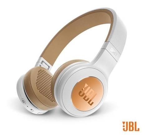 Fone De Ouvido Jbl Duet Bt Headphone Branco E Dourado