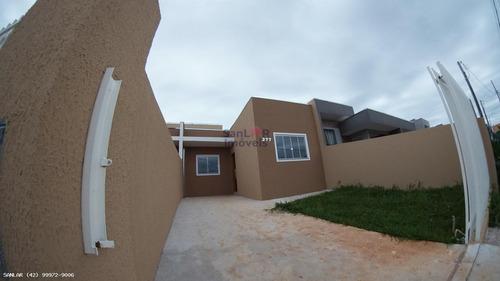 Casa Para Venda Em Ponta Grossa, Cará-cará, 3 Dormitórios, 1 Banheiro, 2 Vagas - _1-1744496