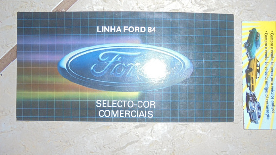 F100 F1000 F2000 F4000 F11000 84 Catálogo De Cores Ford
