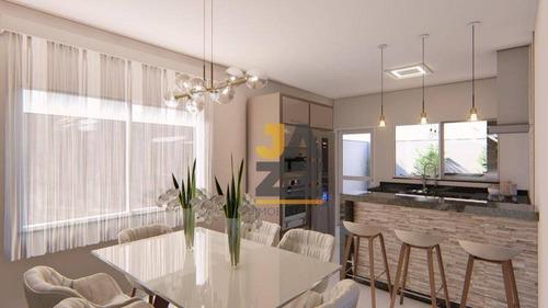 Imagem 1 de 25 de Casa Com 2 Dormitórios Sendo Duas Suítes  À Venda, 106 M² Por R$ 399.000 - Jardim Europa - Jaguariúna/sp - Ca13202