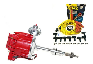 Distribuidor Ford Hei Electronico 289 302 Rojo Cables Accel