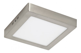 Plafon Panel Led Cuadrado Platil 12w Aplicar Luz Calida/fria