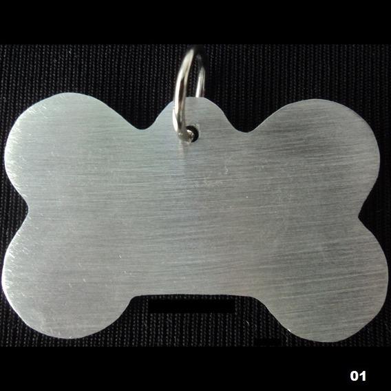 Placa Plaquinha Tag Coleira De Identificação Cão Gato Pet