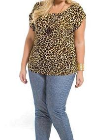 Blusa Feminina Plus Size Liganete Confortável G1 Ao G7