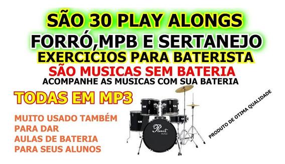 Playalongs Sertanejo De Bateria,são Musicas Sem Bateria