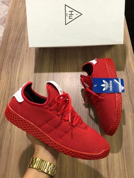 Tênis Unissex adidas Pharrell Williams Hu - Vermelho