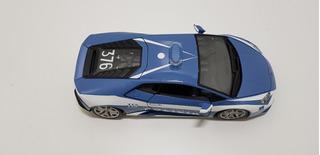 Miniatura Lamborghini Huracan Lp 610-4 Polizia Azul Burago