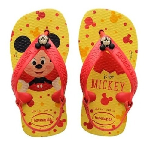 Chinelo Havaianas New Baby Disney Mickey Mouse - Original