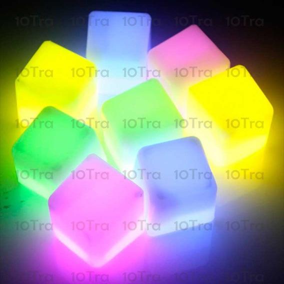 24 Cubos Hielos Luminosos Quimicos Neon Luz Tragos Deco