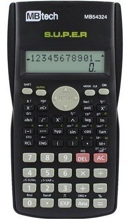 Calculadora Científica 240 Funções Display Com 2 Linhas Top