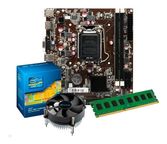 Kit Processador I3 2100 + Placa Mãe H61, 4gb Ddr3 + Nfe