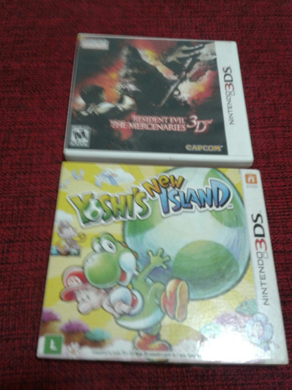 Yoshi Island + Resident Evil Mercenaries 3d 3ds/ 2ds