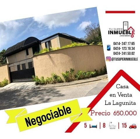 Casa En Venta En La Lagunita 5h- 8b- 15