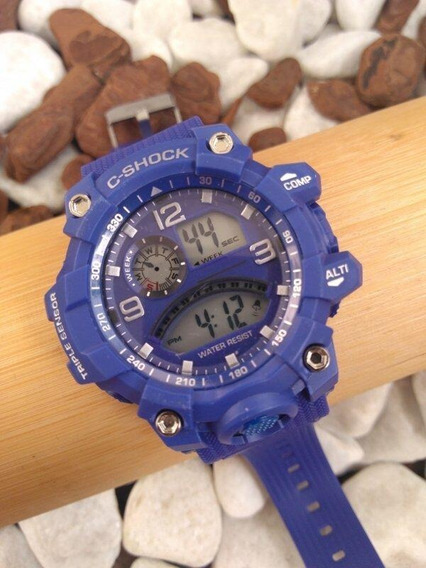 Relógio Digital Shock Azul 4310